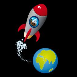 Sticker Chien dans l'espace