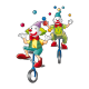 Clowns geongleurs
