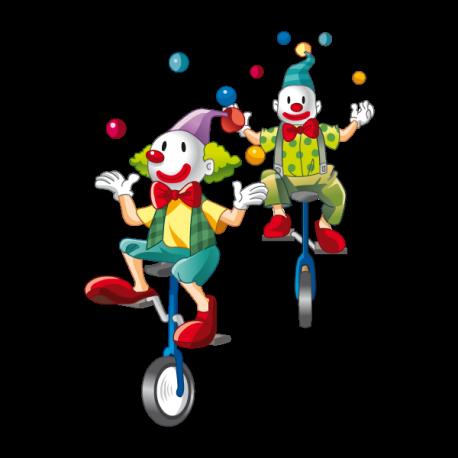 Clowns geongleurs