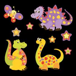 Sticker La famille Dino