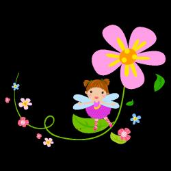 Sticker La fée des fleurs