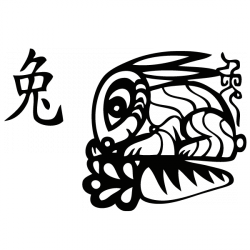 Sticker Signe astro lapin