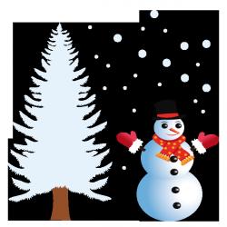 Sticker Bonhomme de neige