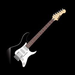 Sticker Guitare électrique noir