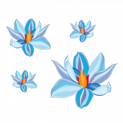 Sticker Iris bleu