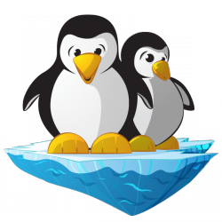 Sticker Pingouins sur leur banquise