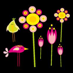 Sticker Mon jardin fleuri