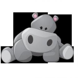 Sticker Bébé hippo 1