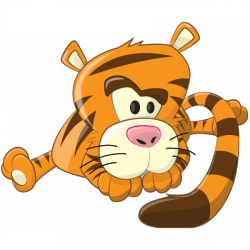 Sticker Bébé tigre