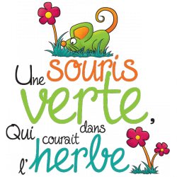 Sticker Souris verte