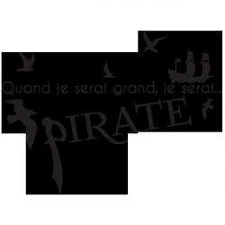 Sticker Je serai pirate