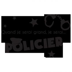 Sticker Je serai policier