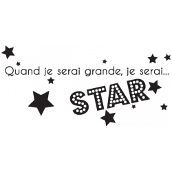 Sticker Je serai Star