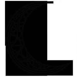 Sticker Lune abstraite