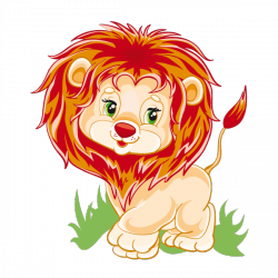 Sticker Petit lion