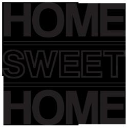 Sticker Home sweet home 3