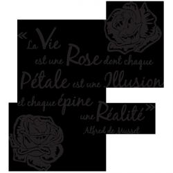 Sticker La vie selon Musset