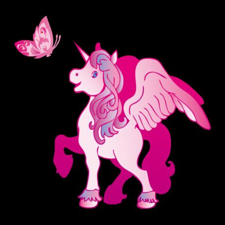 Licorne et papillon