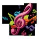 Sticker Musique en couleur