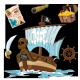 Sticker Bateau de pirate et accessoires