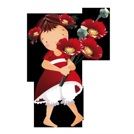 Sticker La cueillette de fleurs
