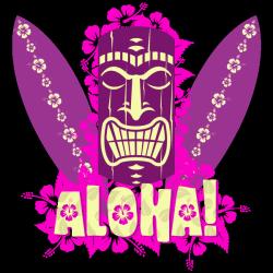 Sticker Aloha Tiki