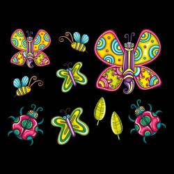 Sticker Nature et insectes