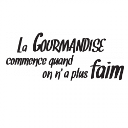 Sticker La gourmandise