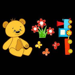 Sticker Nounours et jouets