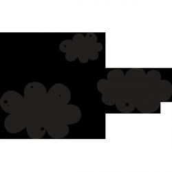 Sticker ardoise nuages