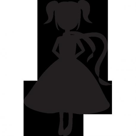 Sticker ardoise fillette