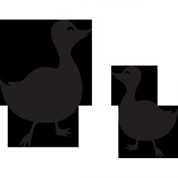 Sticker ardoise maman canard et son petit