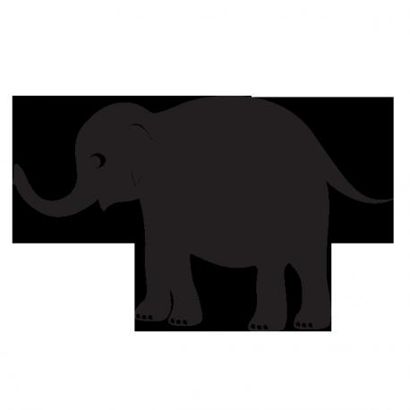 Sticker ardoise éléphant
