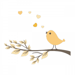 Sticker Oiseau sur sa branche