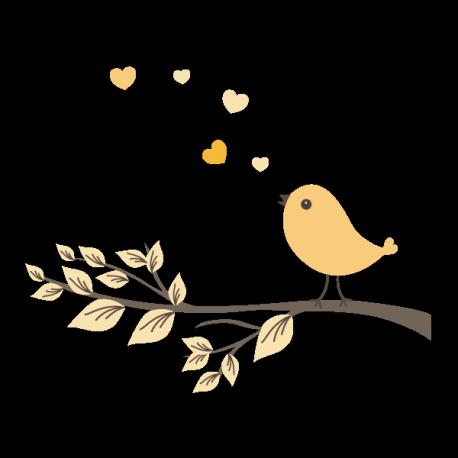 Oiseau sur sa branche