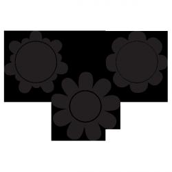 Sticker ardoise 3 Fleurs
