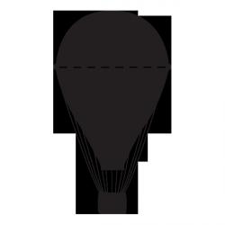 Sticker ardoise Montgolfière