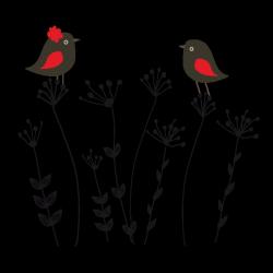 Sticker Oiseaux du bonheur