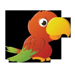 Sticker Perroquet