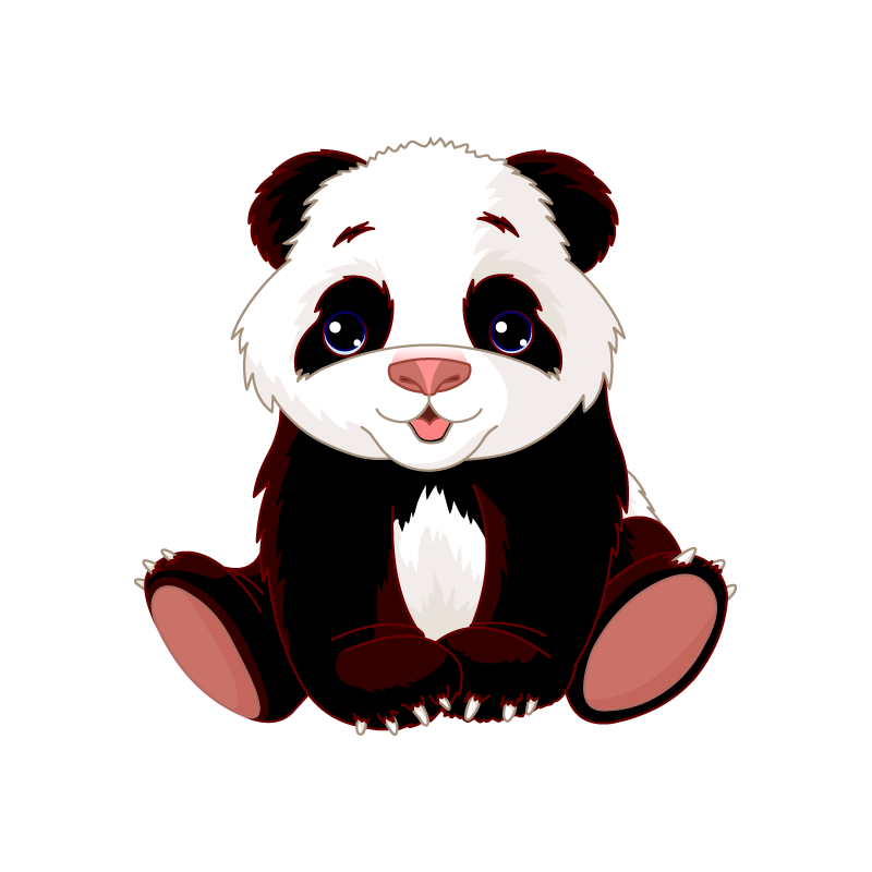 Sticker b b panda for Stickers panda chambre bebe