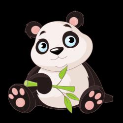 Sticker Bébé Panda et bambou