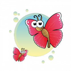 Sticker Le papillon
