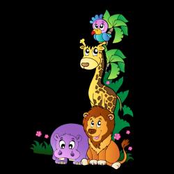 Sticker Animaux de la Jungle 1