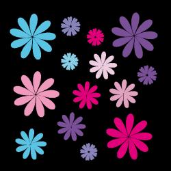 Sticker Pétales de fleurs