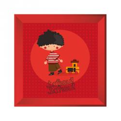 Sticker tableau garçon petit train rouge