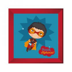 Sticker tableau garçon super héros rouge