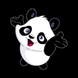 Sticker Petit panda joyeux