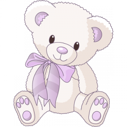 Sticker Ourson lilas