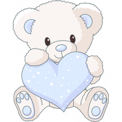 Sticker Ourson Coeur bleu