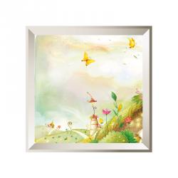 Sticker tableau campagne papillon beige